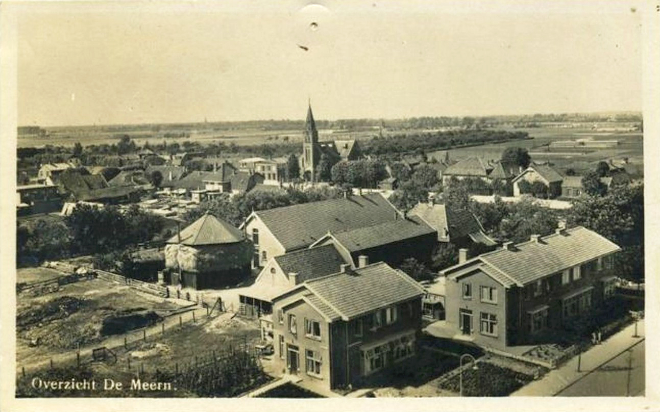 Ansichtkaart oud van Teats van aemerongenlaan