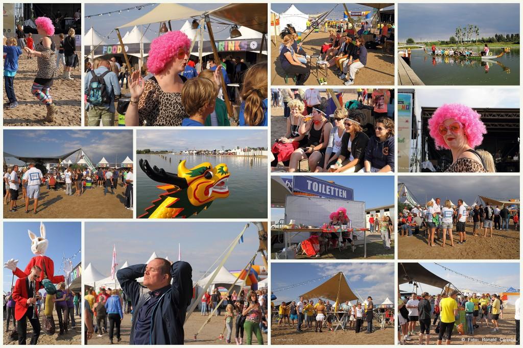 Drakenbootfestival voor collage scherpT