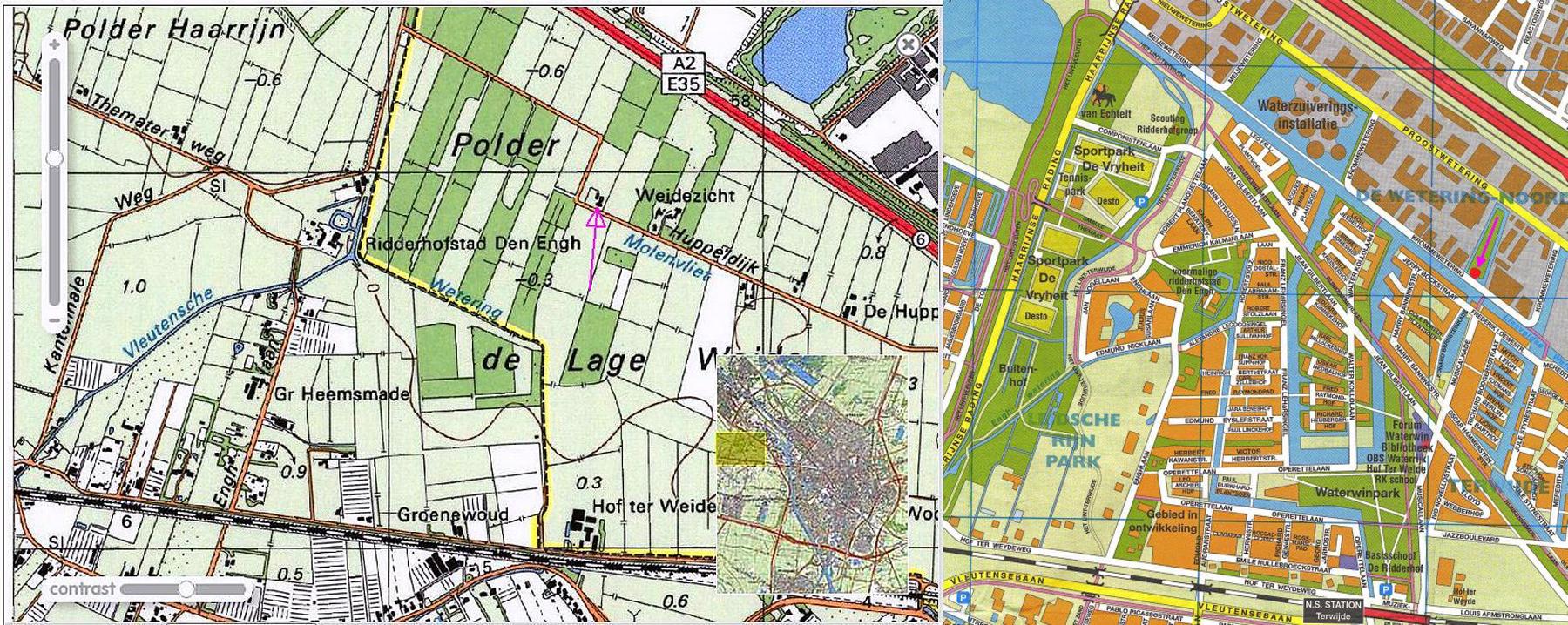 Panorama kaart Huppeldijk