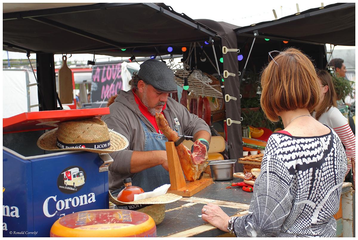Slager op markt
