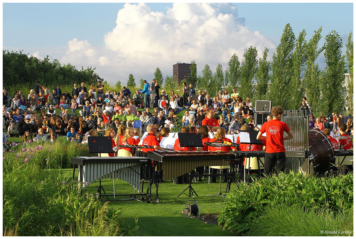 orkest in tuin