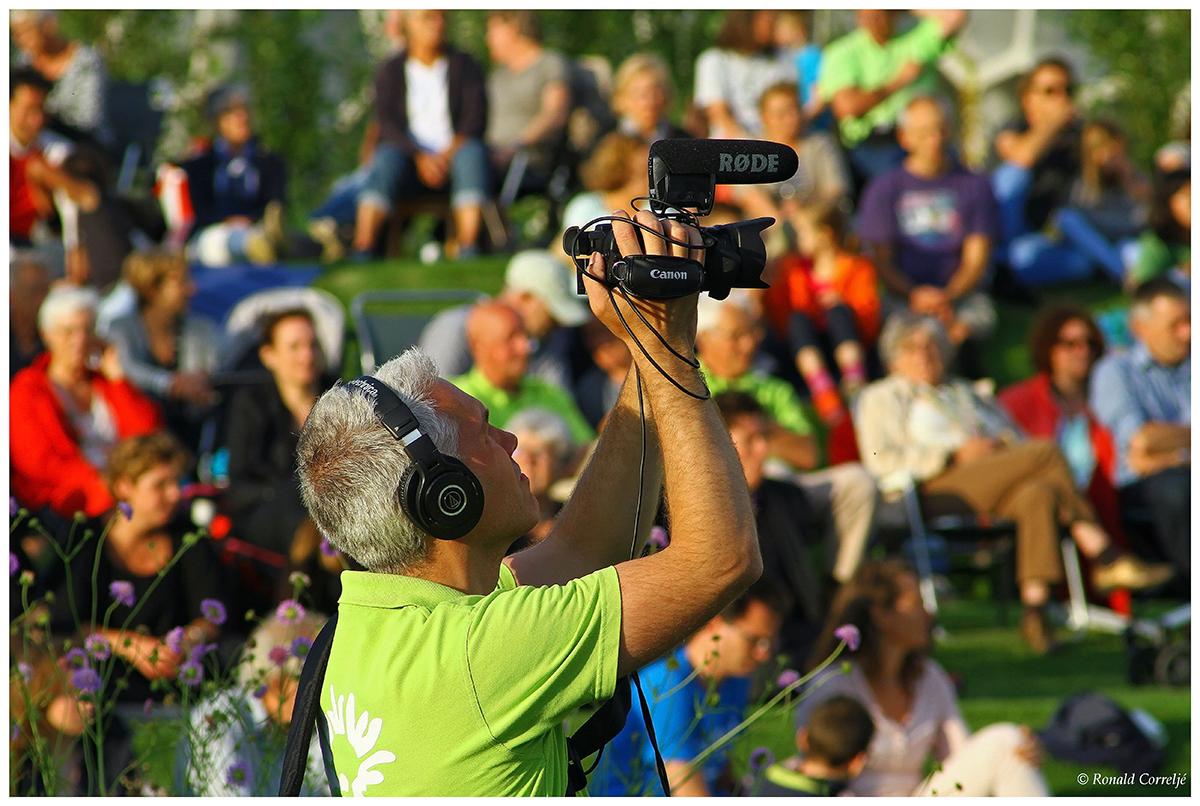 cameraman aan het filmen