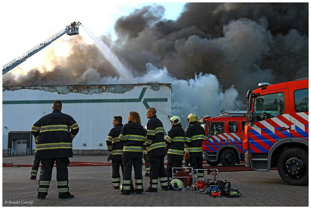 brand en brandweerlieden