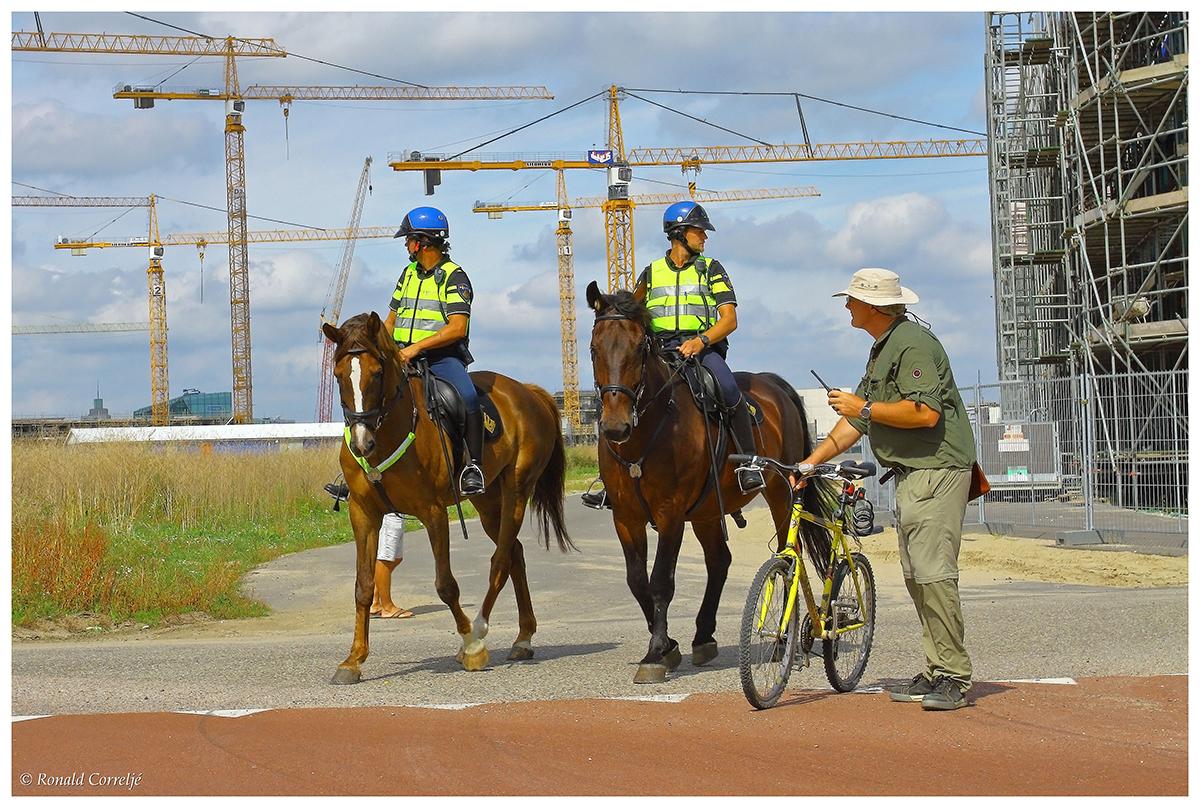 optocht met politiebegeleiding te paard