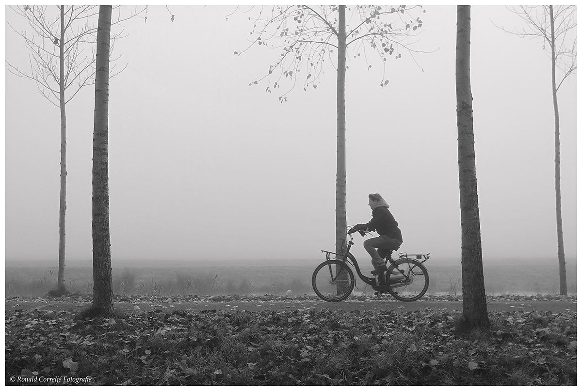 eenzame fitser in de mist