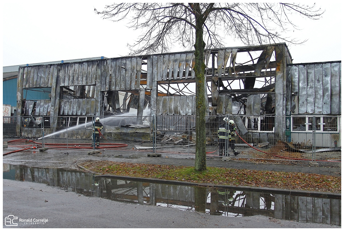 Verwoest pand na brand