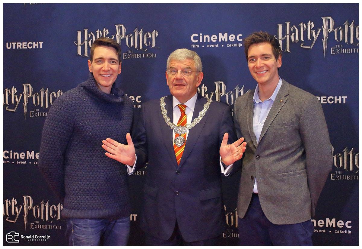 Burgemeester van Utrecht met Harry Potter acteurs