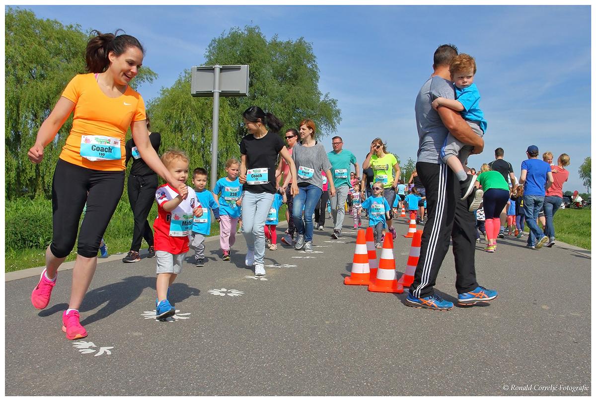 hardloopwedstrijd voor kinderen