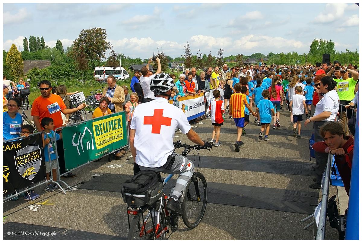 EHBO bij hardloopwedstrijd voor kinderen