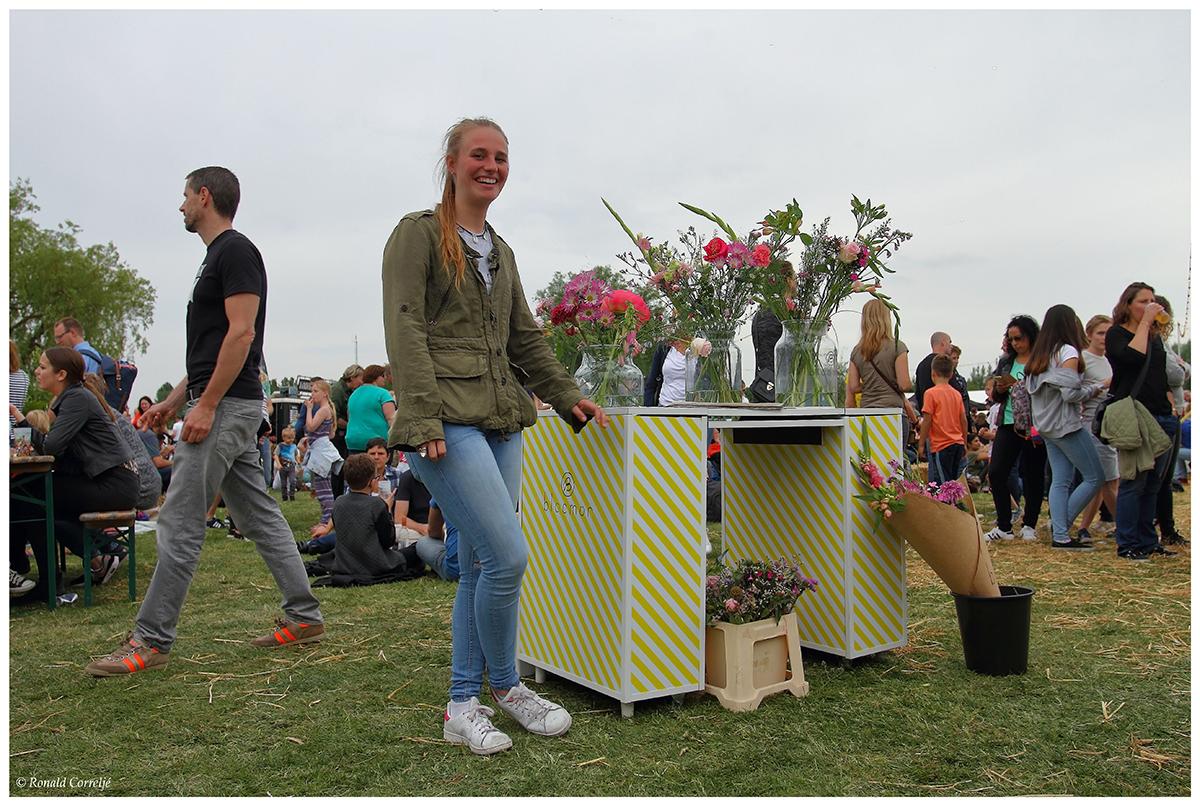 Bloemenverkoopster