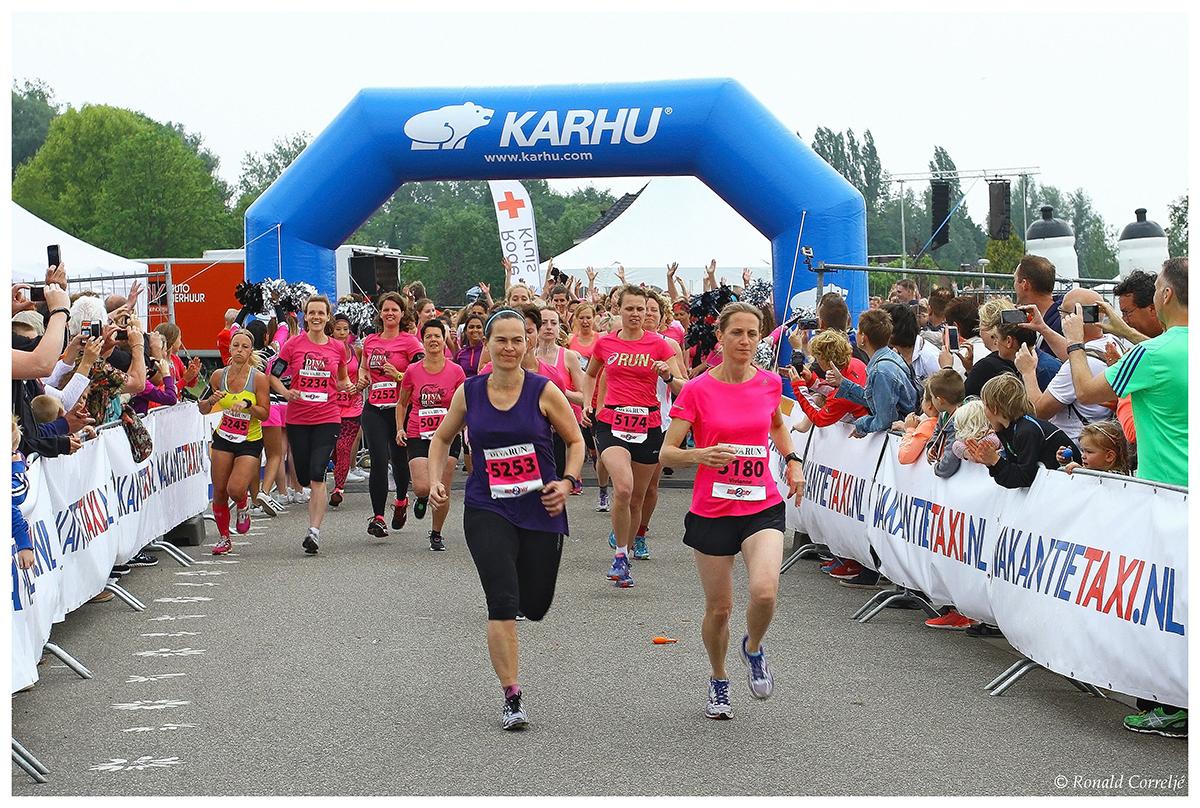 start hardloopwedstrijd dames