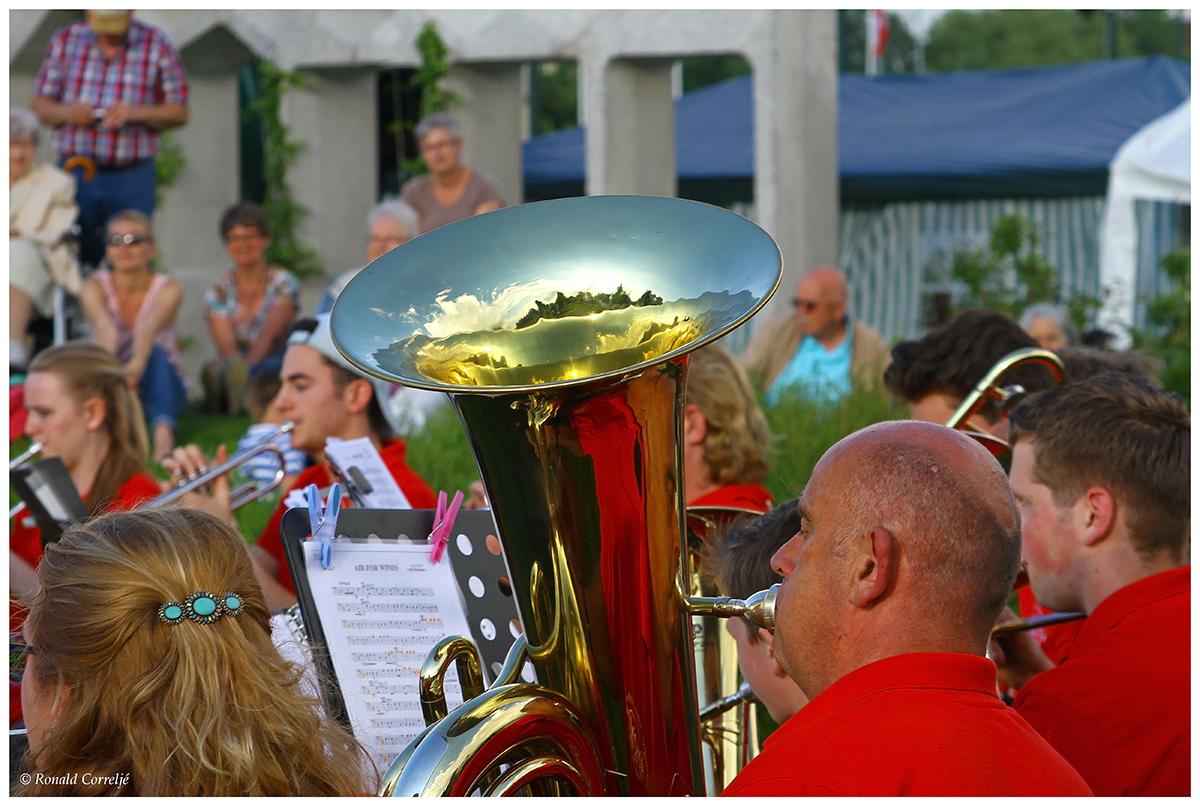trompetist in orkest