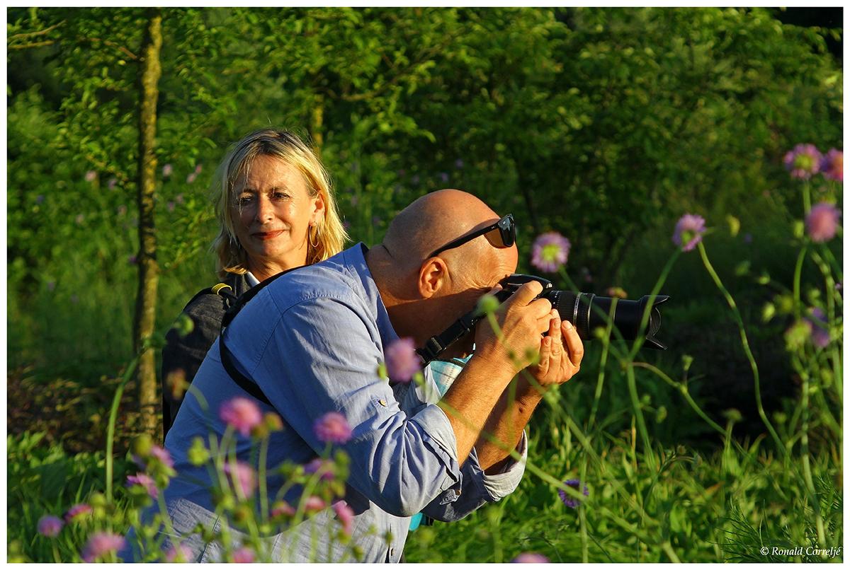 fotograaf in tuin