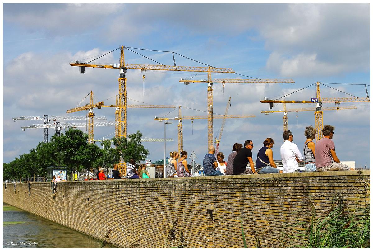 toeschouwers Leidsche Rijn Centrum
