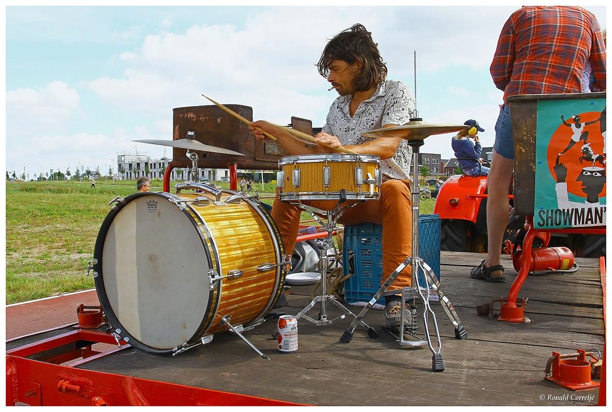 optocht met drumstel