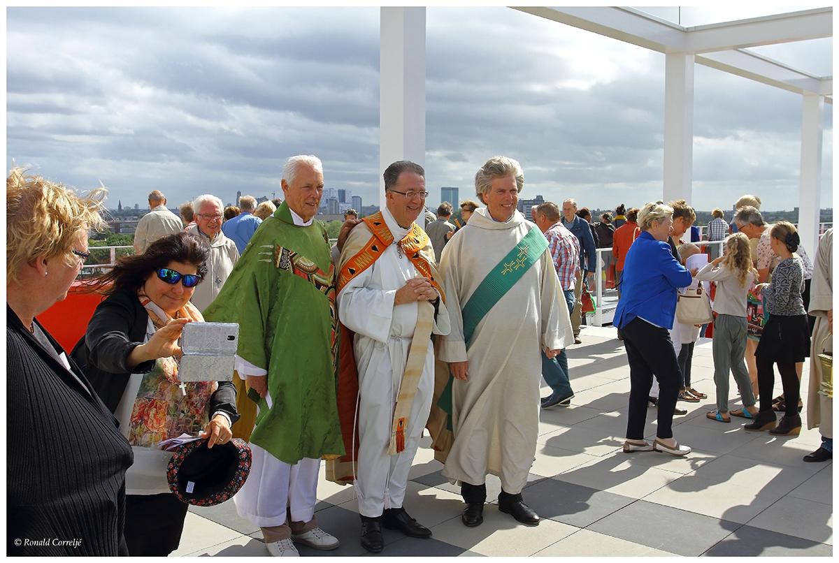 zegening met parochianen