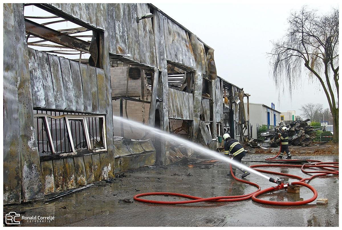 Nablussen brand op industrieterrein