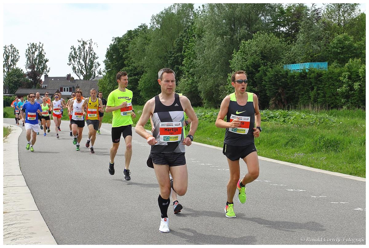 deelnemers hardloopwedstrijd