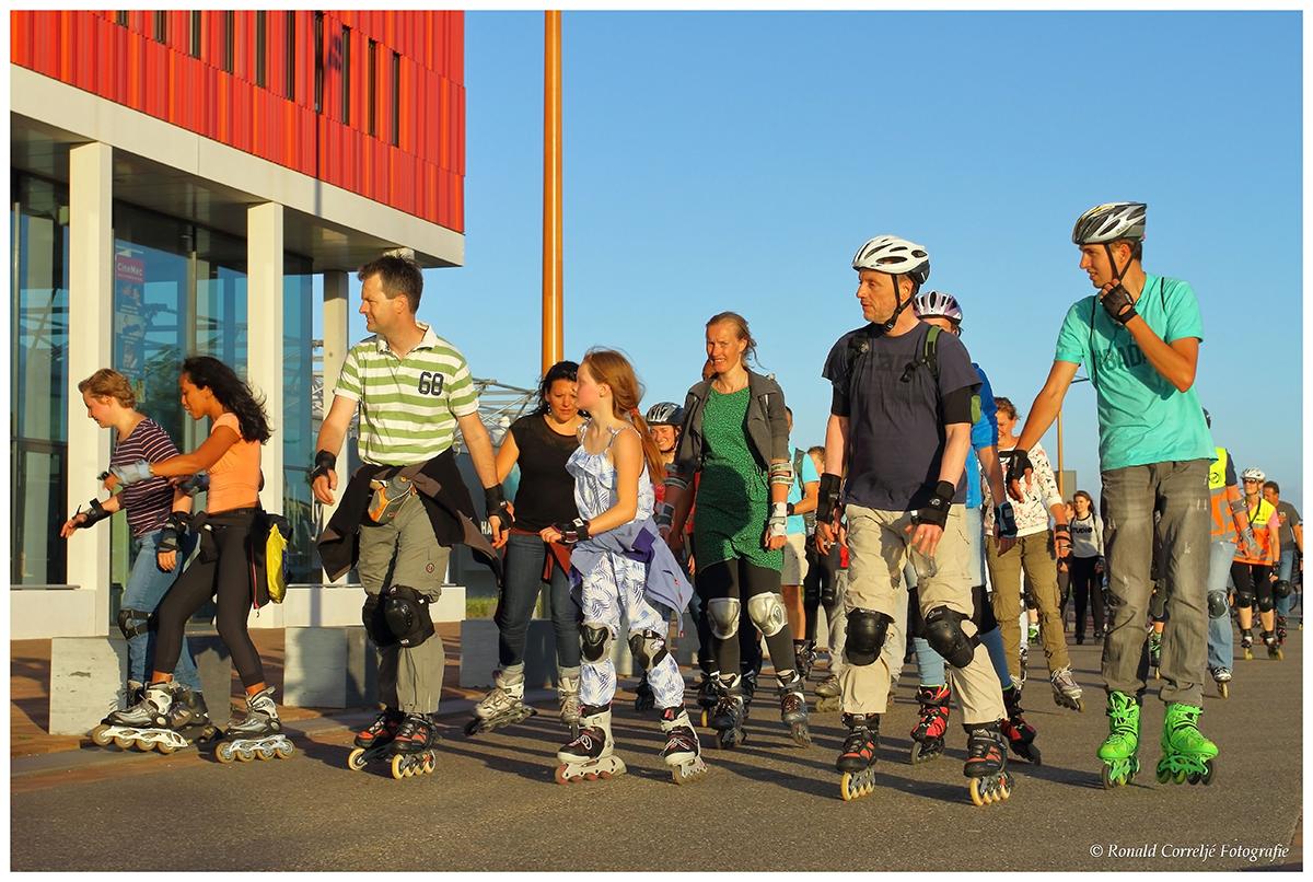 groep skaters