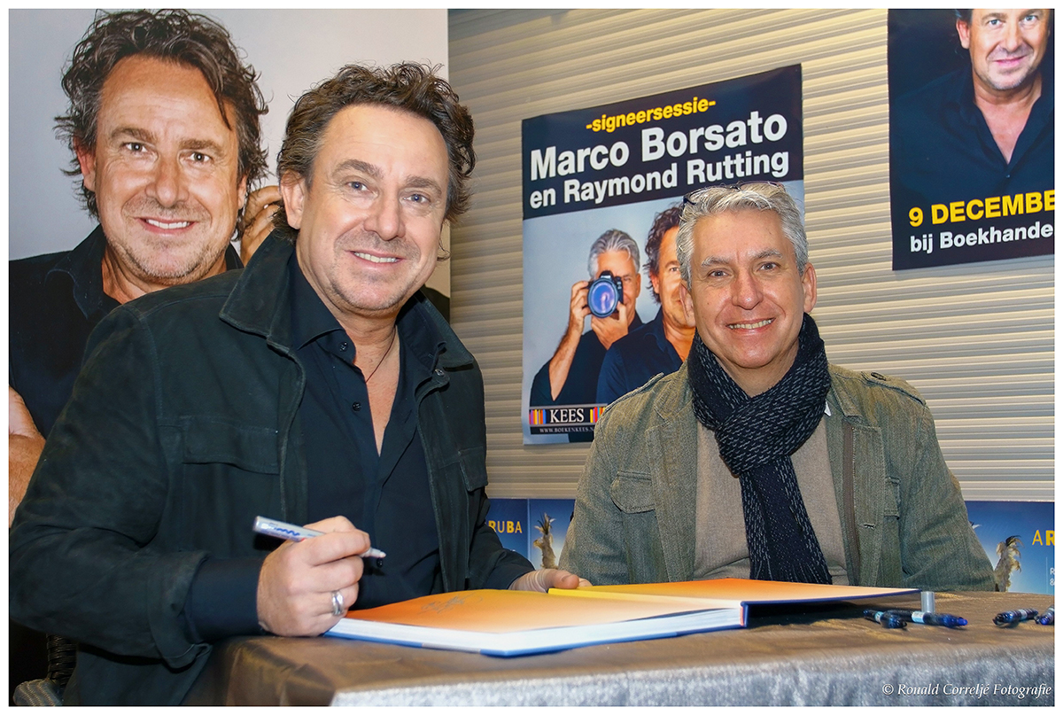 Signeersessie Marco Borsato en Raymond Rutting