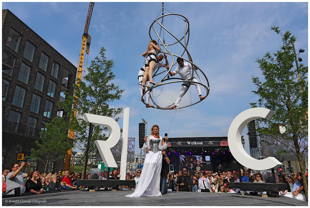 Optreden acrobaten