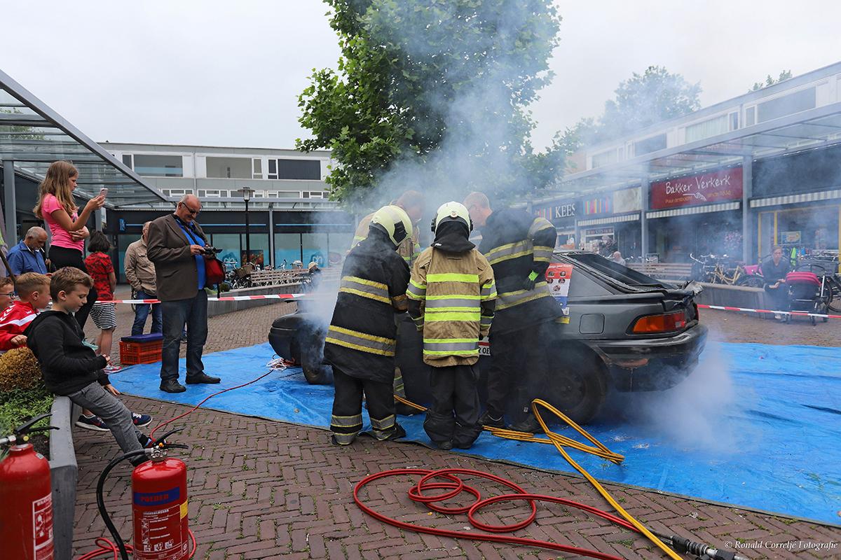 Reddingsactie brandweer