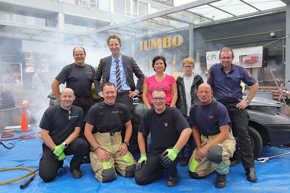 Groepsfoto brandweermannen.