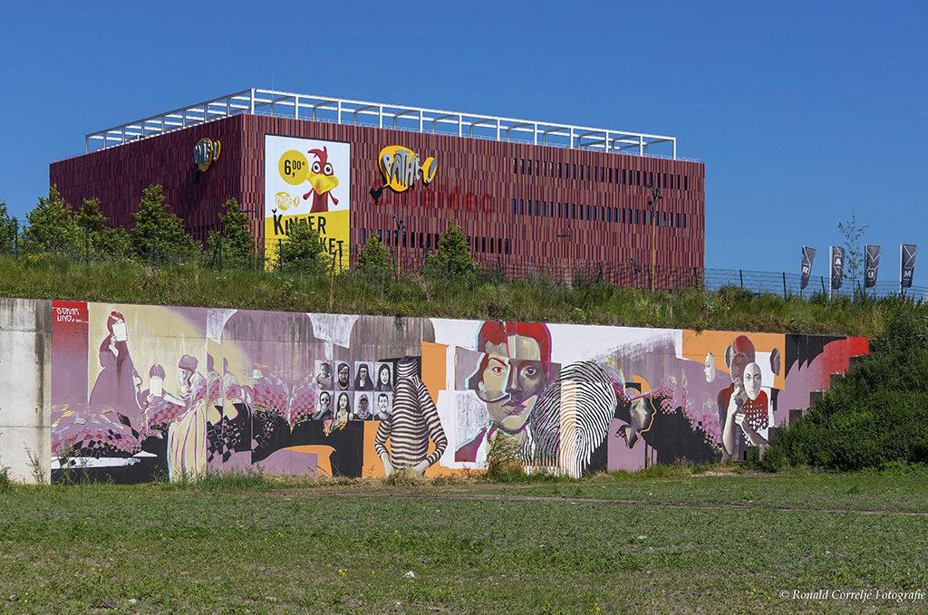 Grote muurschildering