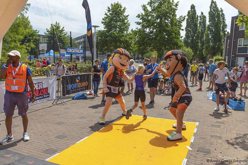 Finish bij hardloopwedstrijd
