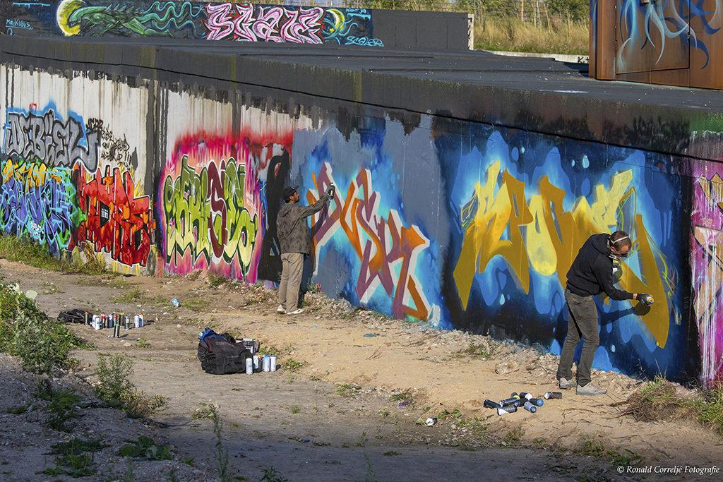 Graffiti op wand
