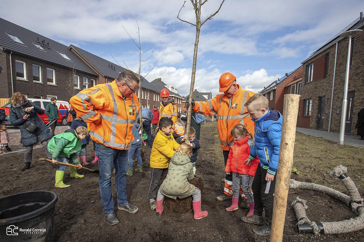 Bomen planten door kinderen